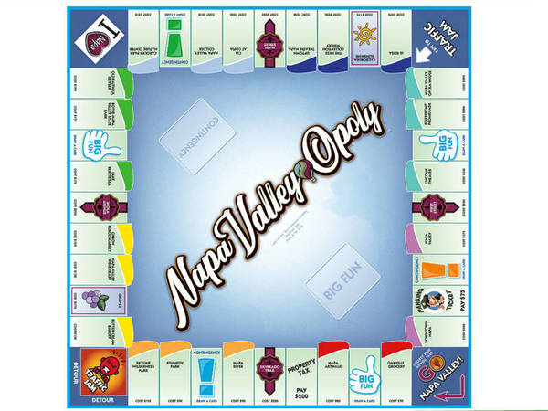Napa Valley-Opoly Game With Wine Country Sights Now On Board  | Napa Valley, CA Patch