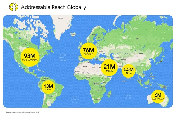 Reaching Snapchatters Around the Globe  - Credit: Snap Inc.