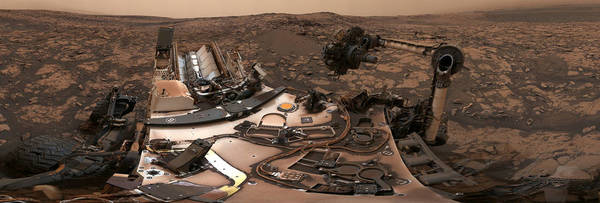 Mars Curiosity's 360-degree panorama - Credit: NASA