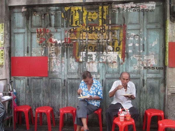 Chinatown, Bangkok. Eten op straat.