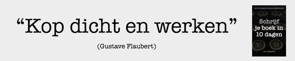 Als je een non-fictie boek wilt schrijven, zijn er maar twee regels. Regel 1: wat Flaubert zei. Regel 2: koop dat boek.