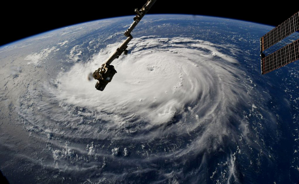 Orkaan Florence, gezien vanuit het International Space Station (foto: ISS)