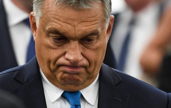Victor Orbán na afloop van het debat