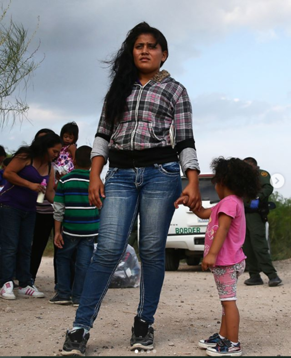 """Migrant mother and child, from John Moore's book """"Undocumented"""""""