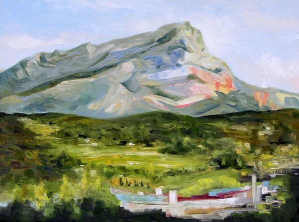 Evening with Cezanne's Mountain by Terrill Welch  | Artwork Archive