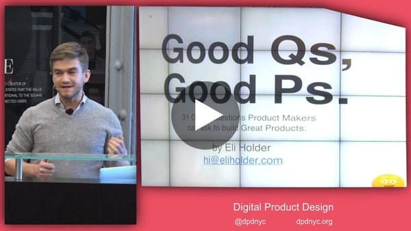 Digital Product Design - Good Questions, Great Products - YouTube
