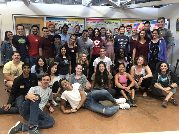 The grad students, teaching fellows and teaching team from the d.school's 2018 Stanford Graduate Summer Institute.