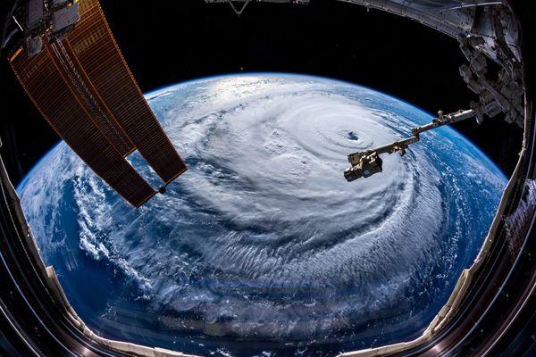 Huragan Florence widziany z pokładu Międzynarodowej Stacji Kosmicznej Fot. Alexander Gerst/ESA