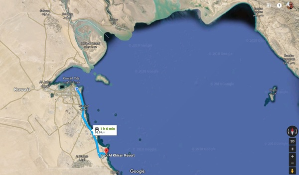 The road trip along the coast ends just north of the Saudi Arabian border.