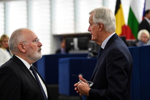 Ze worden genoemd: Timmermans en Barnier