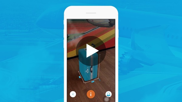 KLM's Augmented Reality hand baggage check