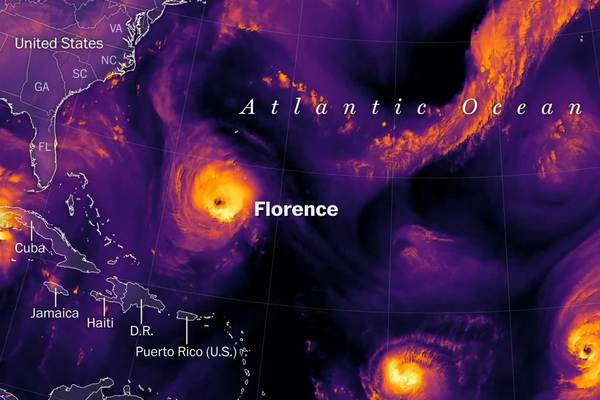 Florence path: Tracking hurricane impact times and maps