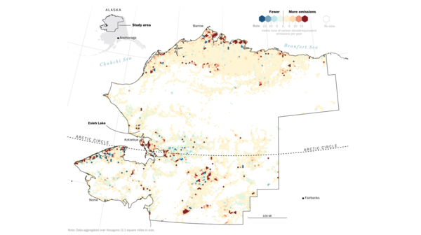 Emission changes from lakes in northern Alaska