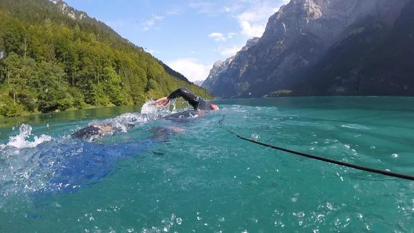 Swimming in the Klöntalersee