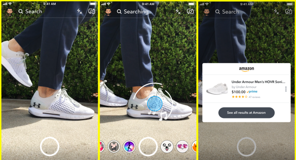 Snapchat lets you take a photo of an object to buy it on Amazon – TechCrunch