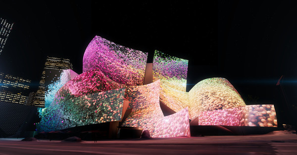 Take a sneak peek at the dazzling projections set to cover Walt Disney Concert Hall  - Curbed LA