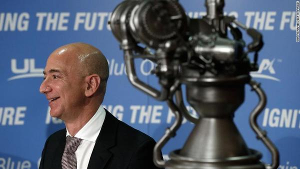 Jeff Bezos's Blue Origin rocket company beats out spaceflight veteran for engine contract