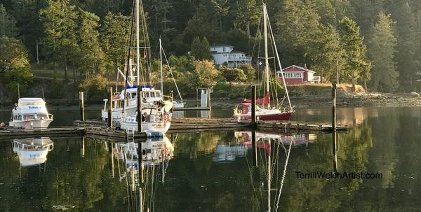 Morning at Port Browning, North Pender Island B.C.