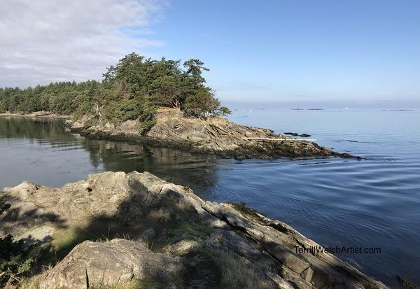 Caught in Boat Pass, Saturna Island B.C.