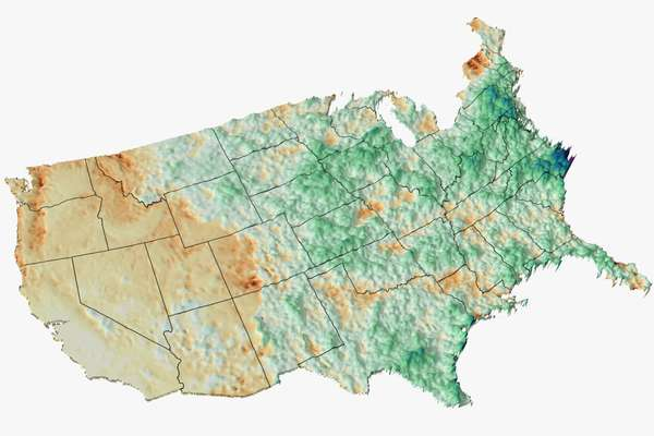 Summer rainfall: opposite extremes split the nation