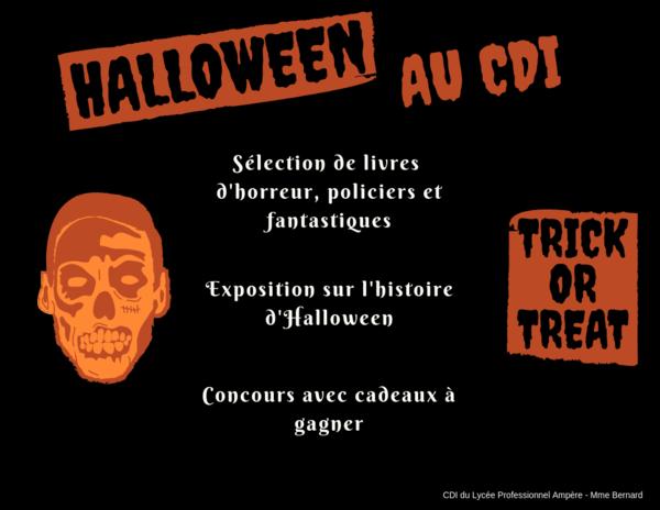 Cette semaine, Halloween est à l'honneur au CDI