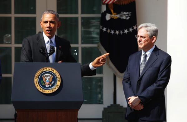 President Obama droeg in 2016 Merrick Garland voor als rechter van het Supreme Court (foto: Reuters)