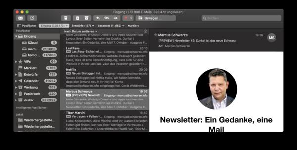… und leider erlaubt die von mir eingesetzte Newsletter-Software noch kein angepasstes Design.