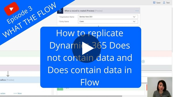 Does not contain data and does contain data in Flow - YouTube