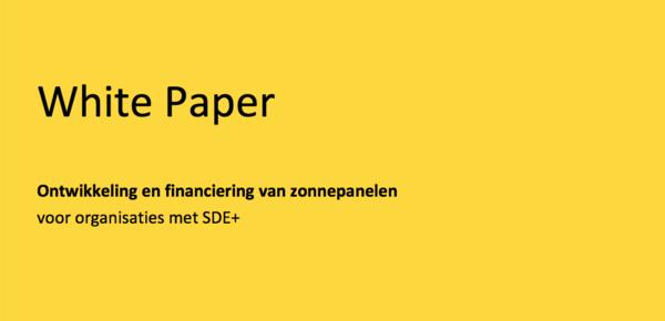 White paper: Financier zonne-energieprojecten met SDE+