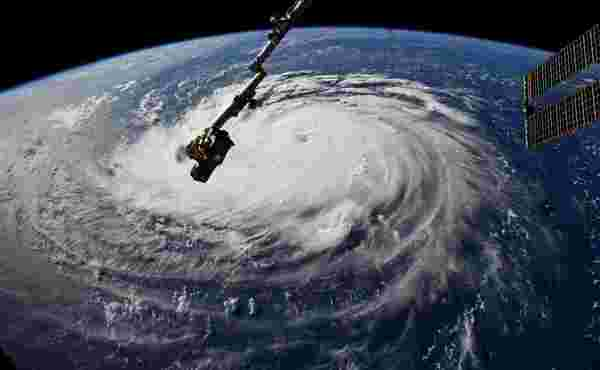 Orkaan Michael gezien vanuit het International Space Station (foto: ISS)