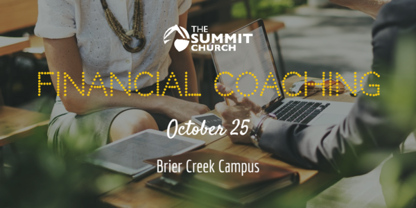 Meet with one of our trained volunteer financial coaches on October 25 to talk through how to align your financial plan with God's word. Click the image above to register.