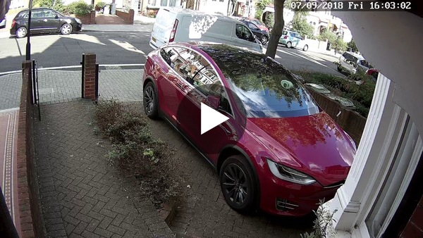 First World Problems - Out while Amazon delivery arrives? No problem, put everything in my remotely controlled Tesla.