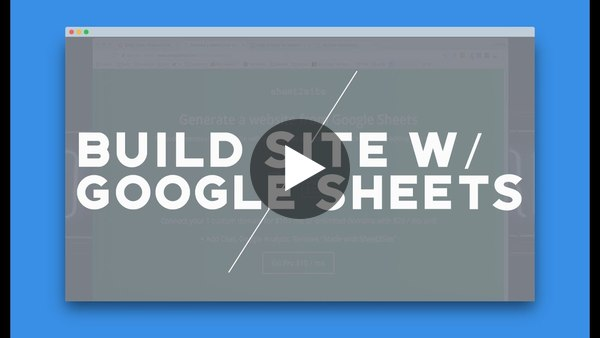 generate a website in under 5 minutes! - Sheet2Site.com (product hunt weekly #1) - YouTube