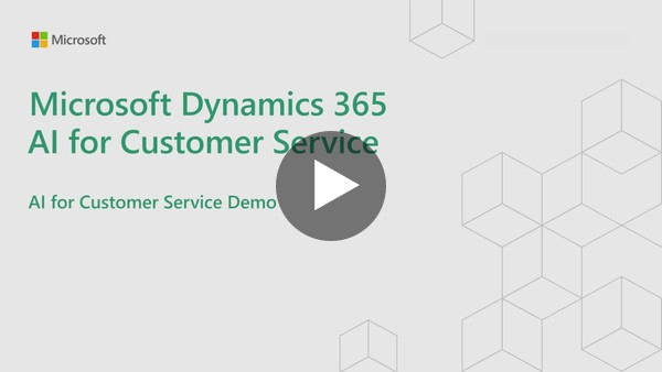 Dynamics 365 AI for Customer Service | Demo - YouTube