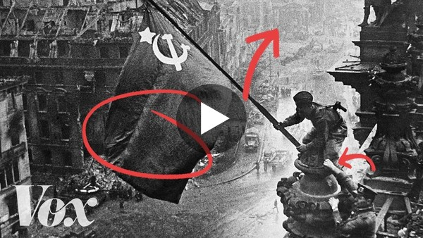 Why the Soviets doctored this iconic photo - YouTube
