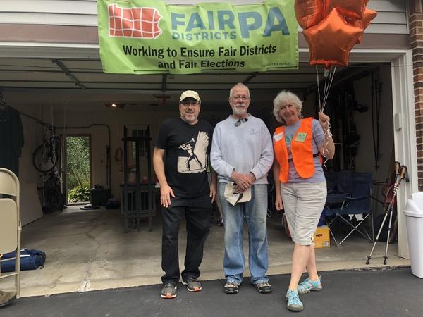 Activisten uit Pennsylvania die vechten tegen gerrymandering (foto: AVDH)