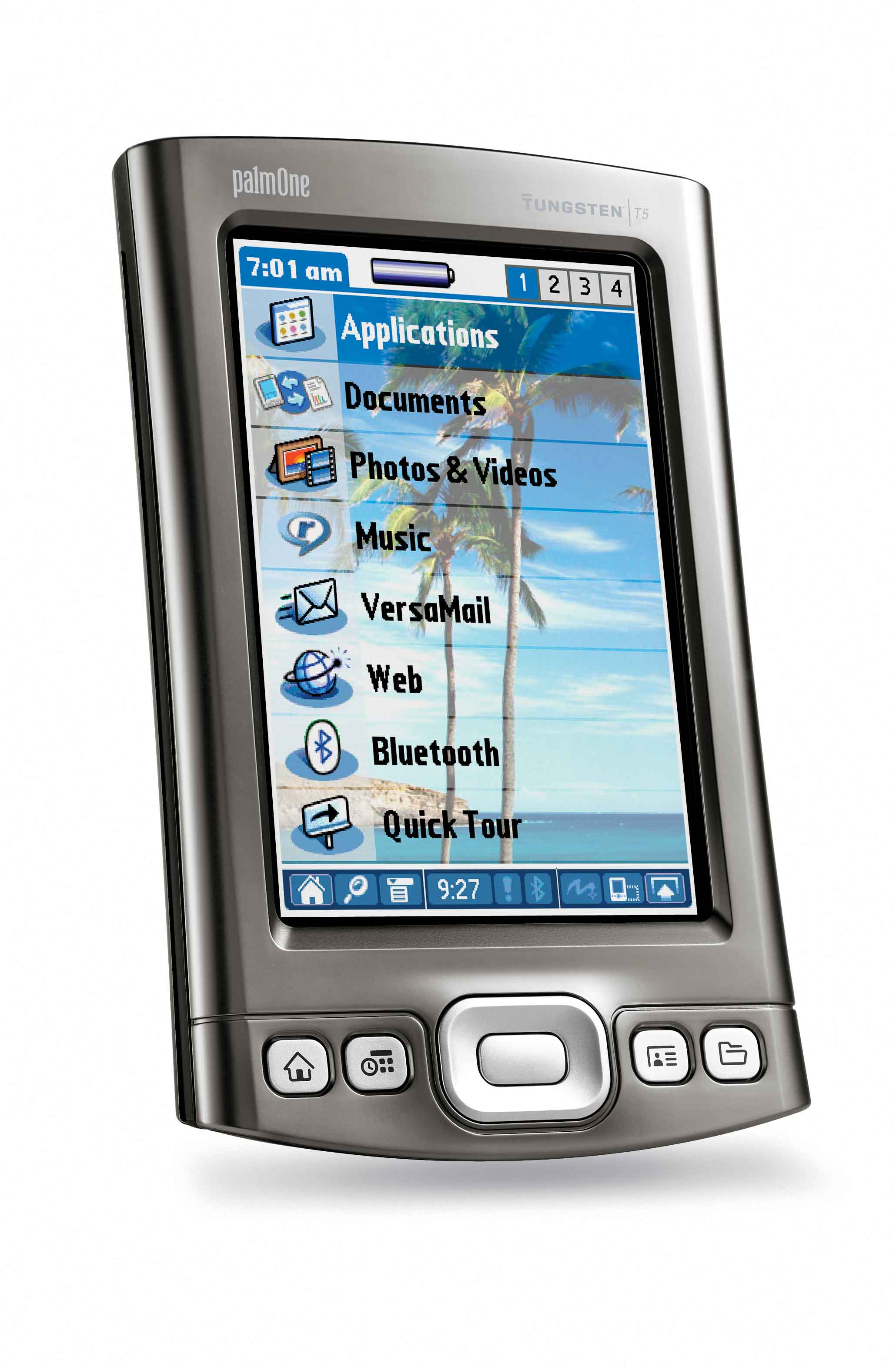 I'm running this photo of a Palm Tungsten T5 mostly because I still have the email that Palm sent to me with it as a file attachment