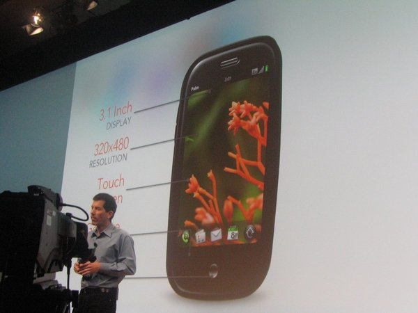 My bad photo of Palm's Jon Rubinstein unveiling the Pre at CES 2009