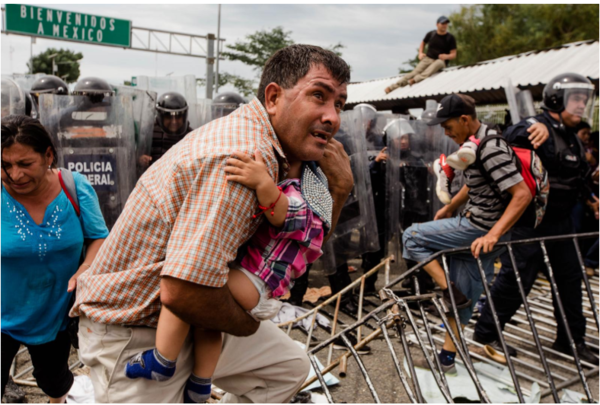 Honduran refugees arrive in Mexico. Fred Ramos / EF Foto