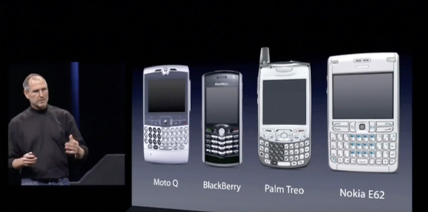 Moments before Steve Jobs showed this slide, all of these devices were considered cool