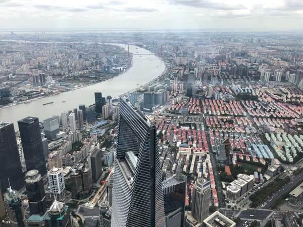 Shanghai Tower op 632 meter hoogte