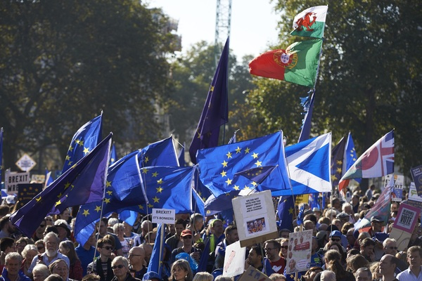 De grote demonstratie in Londen