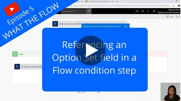 Referencing an Option Set field in a Flow condtion step - YouTube