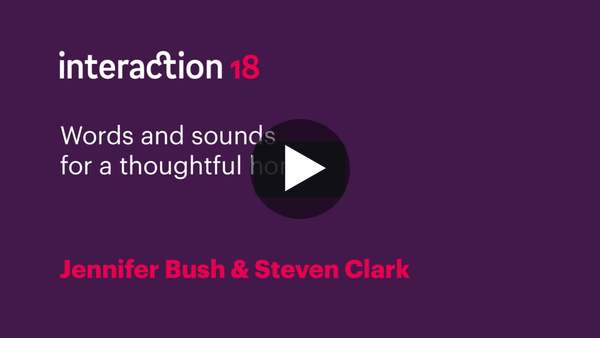 Jennifer Bush & Steven Clark - Words and sounds for a thoughtful home on Vimeo