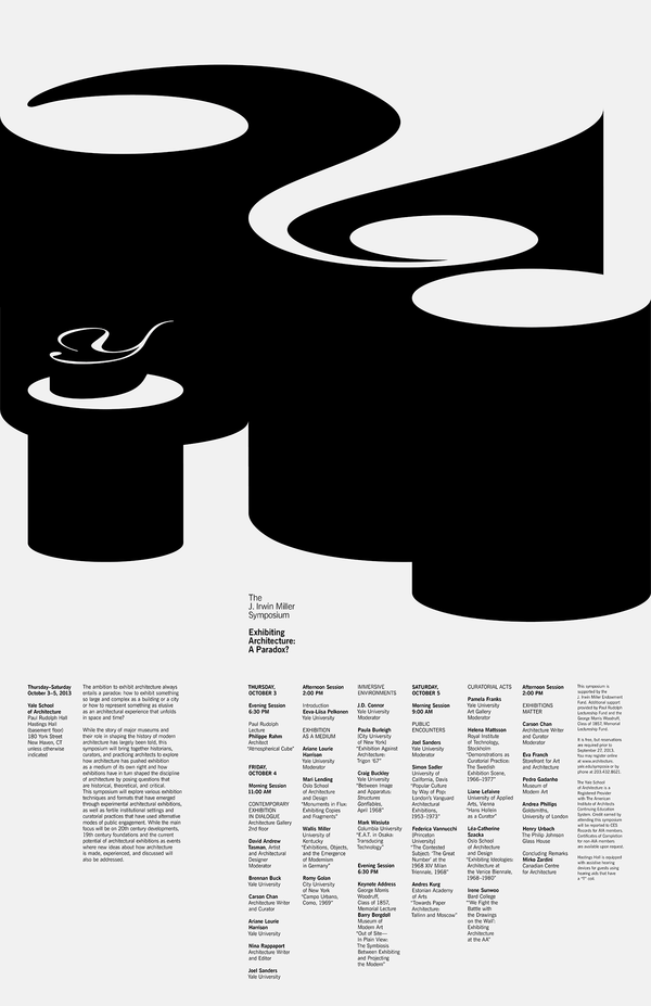 "Jessica Svendsen, ""Exhibiting Architecture: A Paradox"" poster"