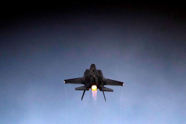 Een F-35 in actie