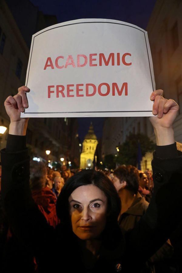 Demonstratie in Boedapest