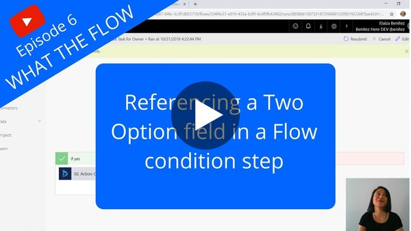 How to reference a Two Option field in a Flow condition step - YouTube