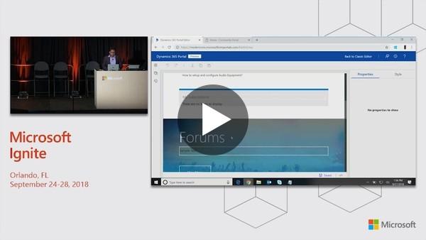 Microsoft Dynamics 365 for Customer Service: Dynamics 365 Portal - New capabilities - BRK2151 - YouTube