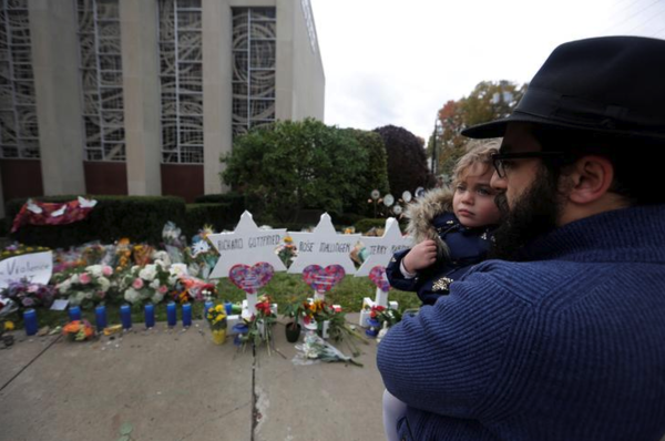 De Tree of Life-synagoge in Pittsburgh (foto: Reuters)